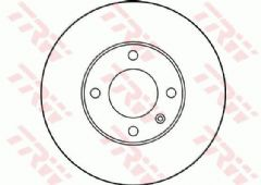 Brake discs front 286x12mm solid